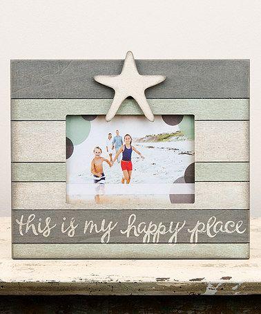 Happy Place Starfish Vintage Frame #zulily #zulilyfinds