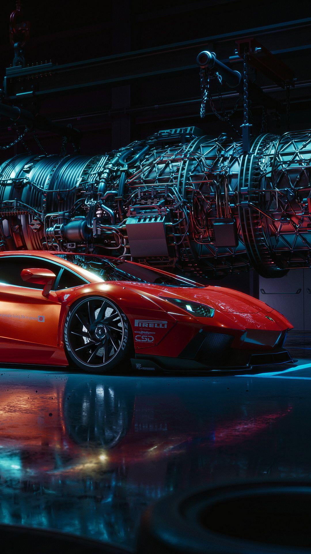 Pin By Aroundcars On Cars Wallpapers Red Sports Car Lamborghini Cars Lamborghini Aventador