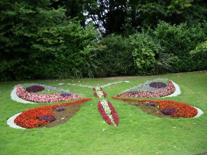 Flowers In A Butterfly Garden Designs