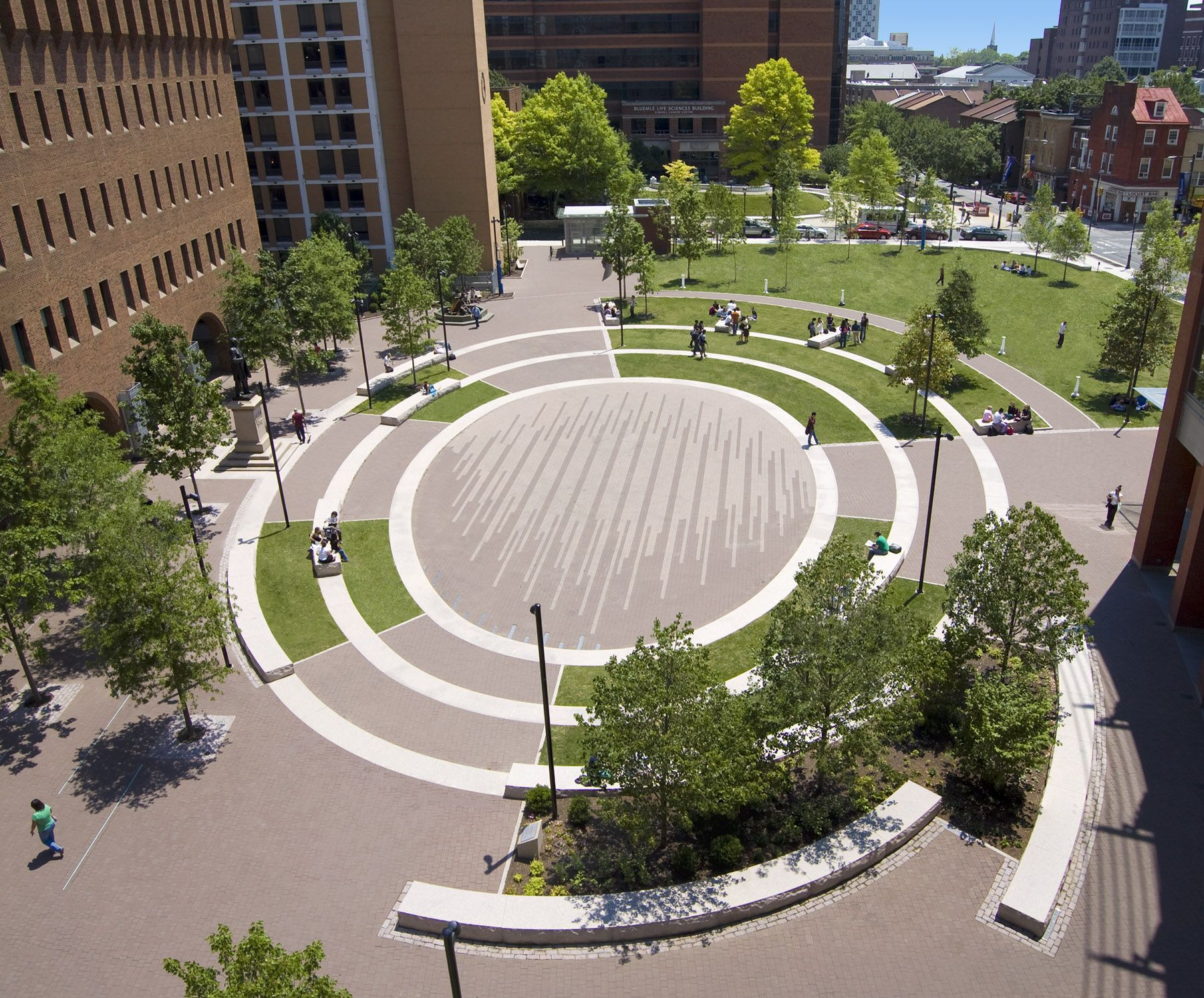 Andropogon Transformed A Bleak Urban Plaza In Center City