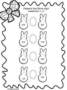 This free Easter Math Fun includes printable worksheets