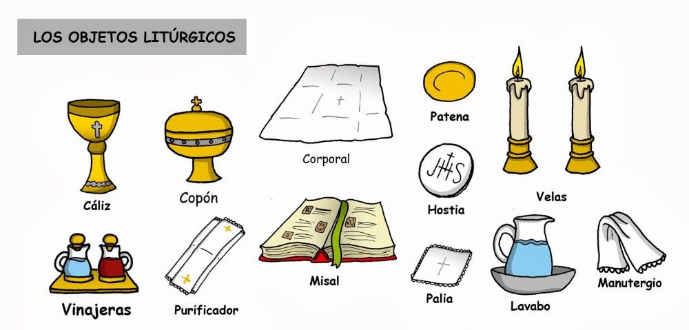 Vasos Sagrados Y Ornamentos Liturgicos Buscar Con Google Catequesis Eucaristía Elementos Liturgicos