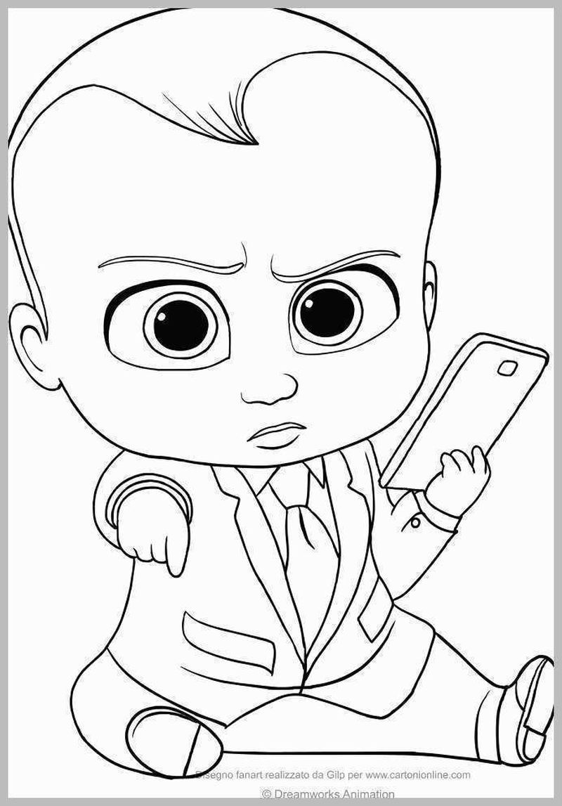 Boss Baby Coloring Pages Pdf Baby Coloring Pages Baby Drawing Boss Baby