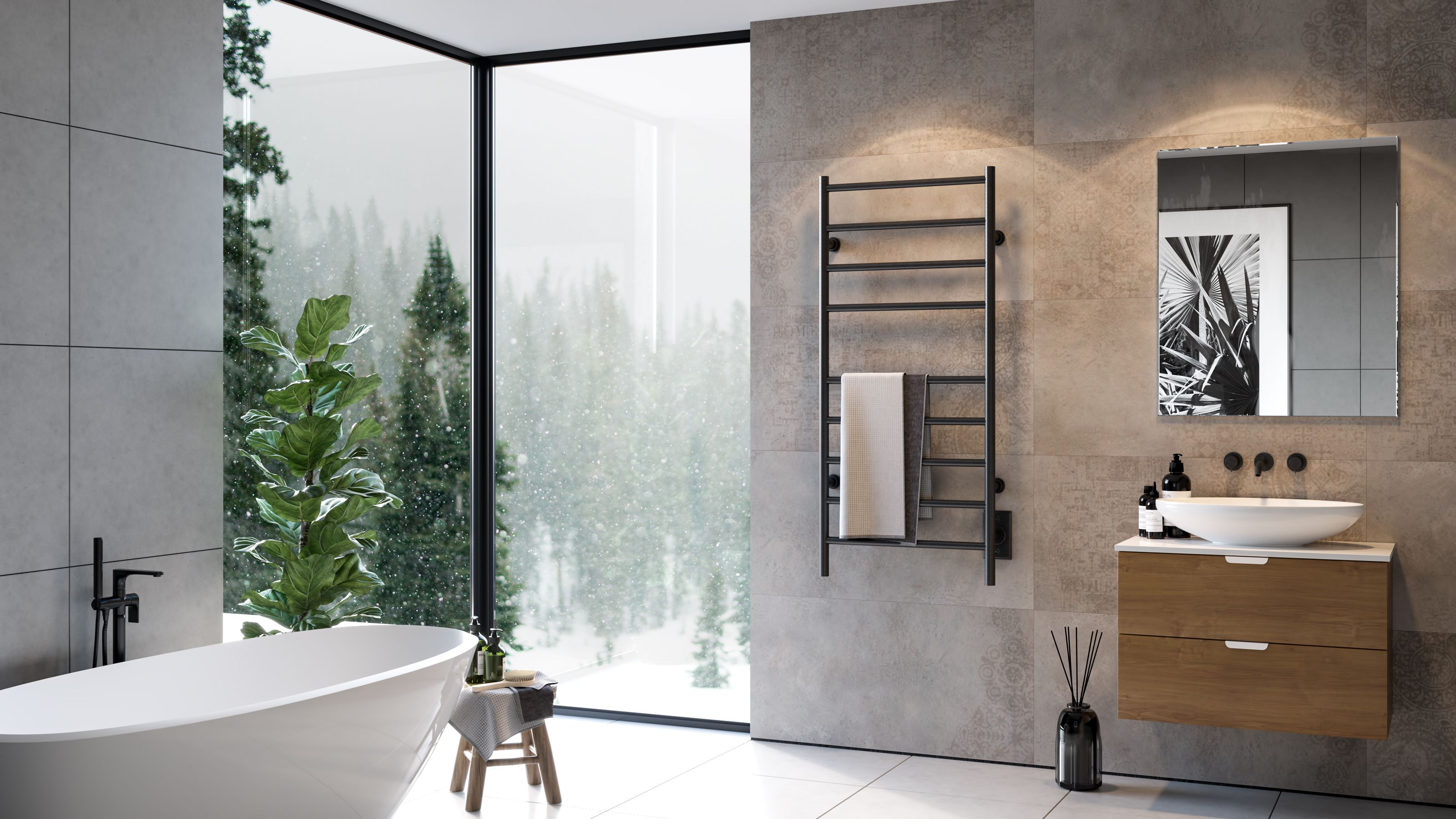 Beautiful Cosy Bathroom Towel Warmer Electric Towel Warmer Cosy Bathroom