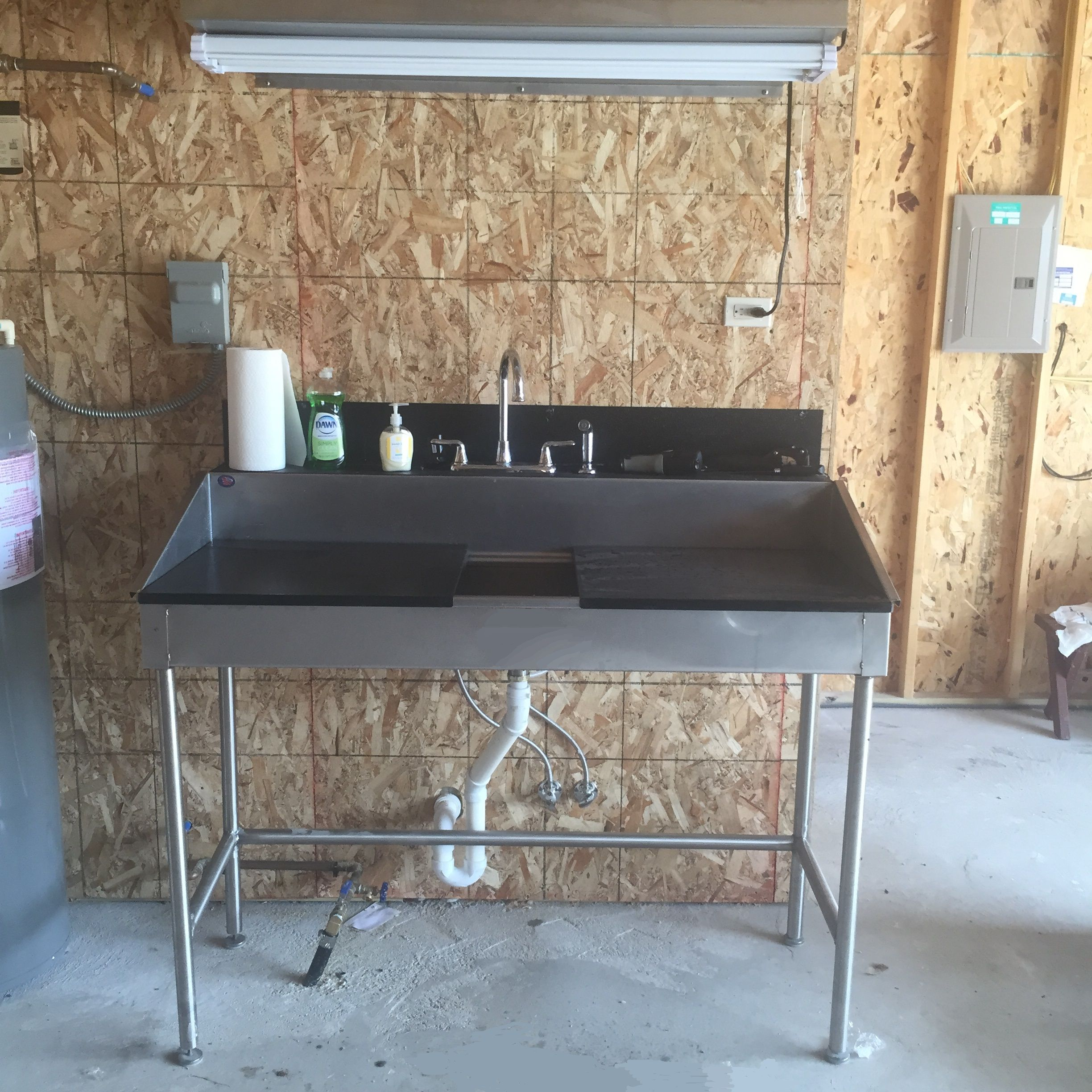 Best Utility Sink Installed In A Lake Home Garage!