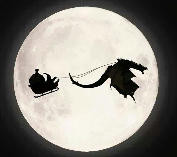 Santa's dragon... Okay, I know that Santa doesn't exist, but this would be cool if he were real...