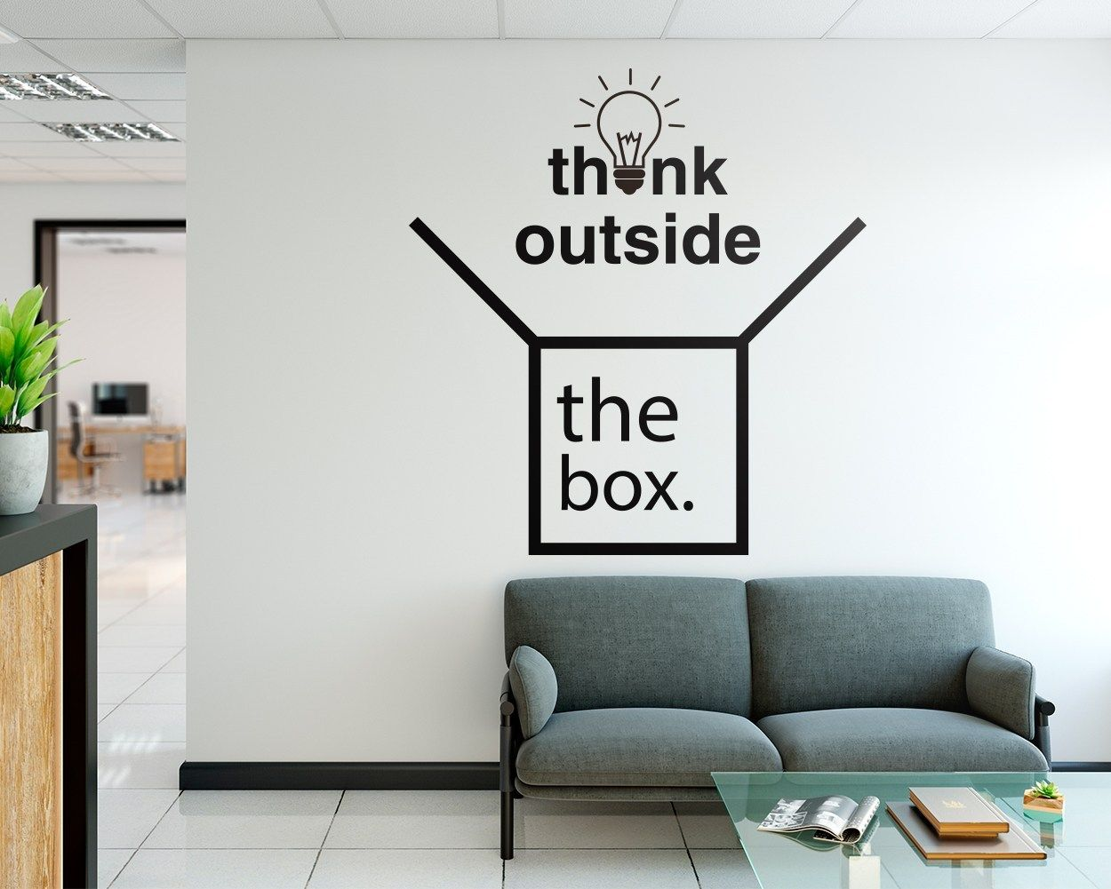 Think Outside The Box Office Wall Art