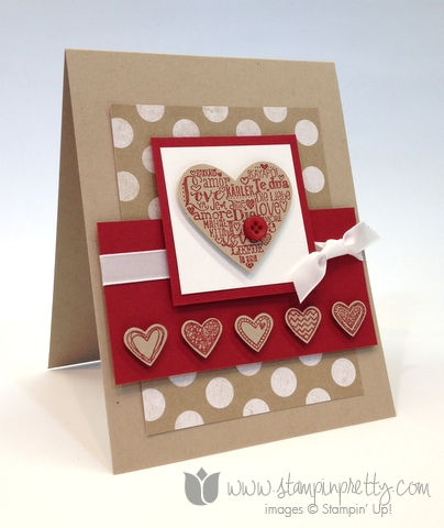 stampin up stamp it up free occasions catalog language of love handmade card diy pretty valentines - Stampin Up Valentine Cards