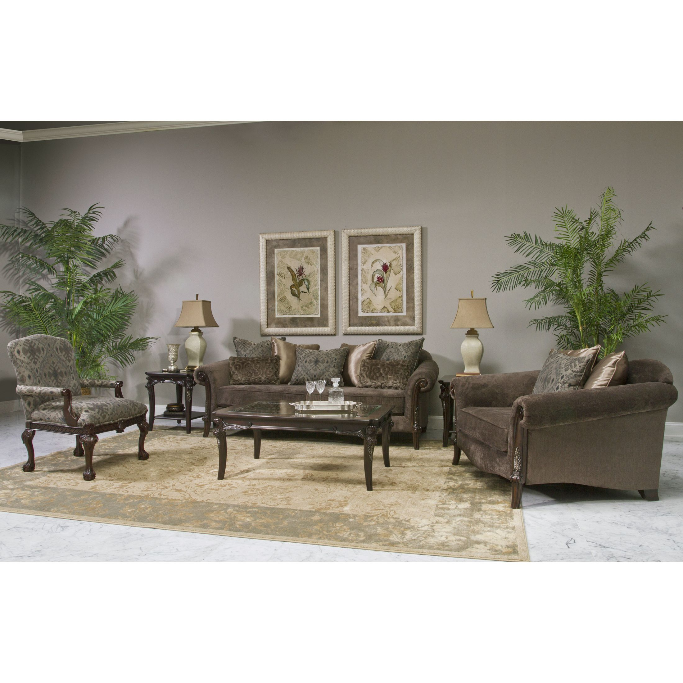 Fairmont Designs Made To Order Lila Brown 3 Piece Sofa Set (Lila 3pc Sofa  Set)