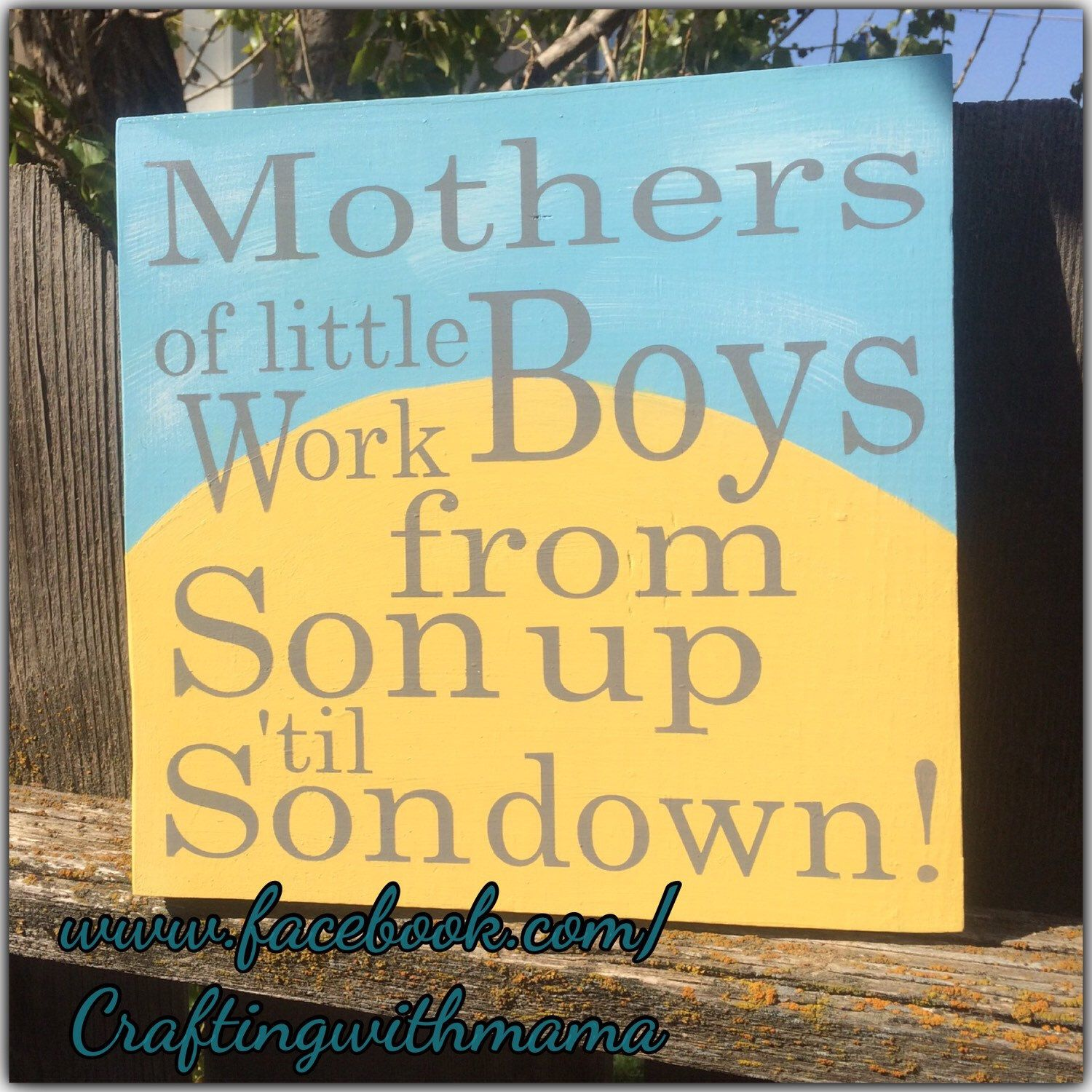 Nursery wall art, Mothers of little boys work from son up to son ...