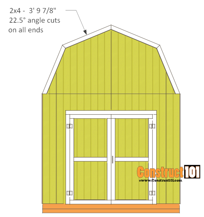 10x10 Shed Plans Gambrel Shed 10x10 Shed Plans Diy Shed Plans Shed Plans