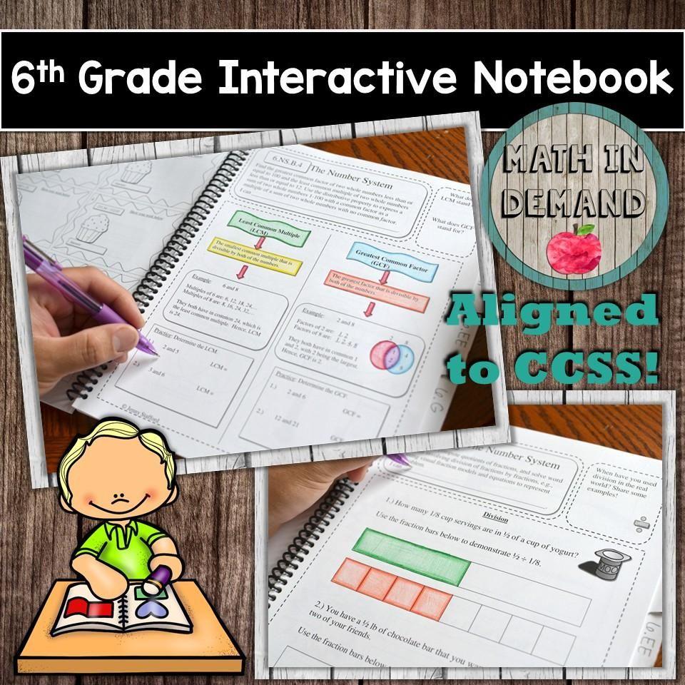 6th Grade Math Interactive Notebook | Math and Teacher