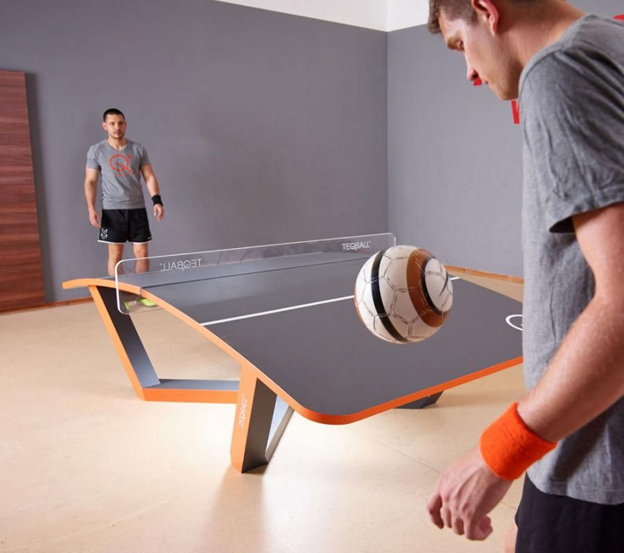 TEQBALL  A Curved Ping Pong Table That You Play With a Soccer Ball ... 360805d40c2c