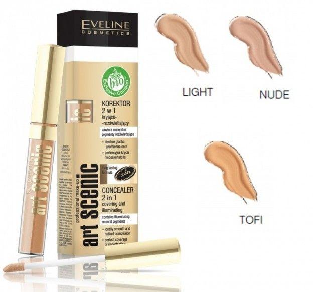 Eveline Art Professional Make Up Corrector 2 In 1 Highlighter Concealer Concealer Highlighter Scenic Art