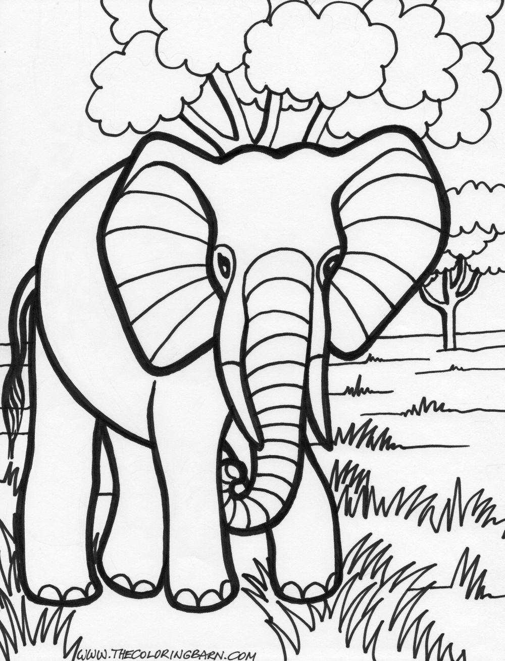 Free coloring pages elephant - Elephant Coloring Pages