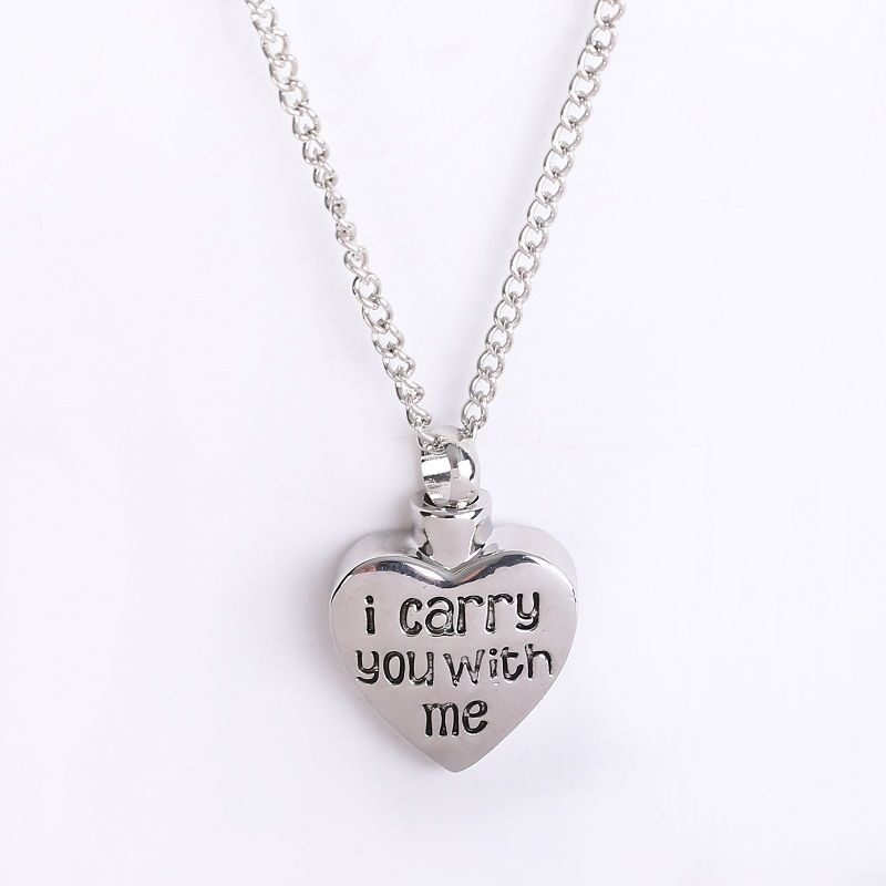 Jewellery & Watches Necklaces & Pendants Cremation Jewellery for Ashes Funeral  Pendant Silver Heart Urn Necklace GIFT