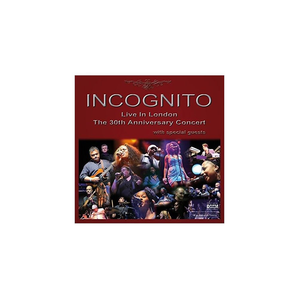 Incognito Live In London 30th Anniversary Concert Vinyl 30th Anniversary Incognito Concert