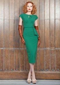 Timeless 1940s Style Dress Green