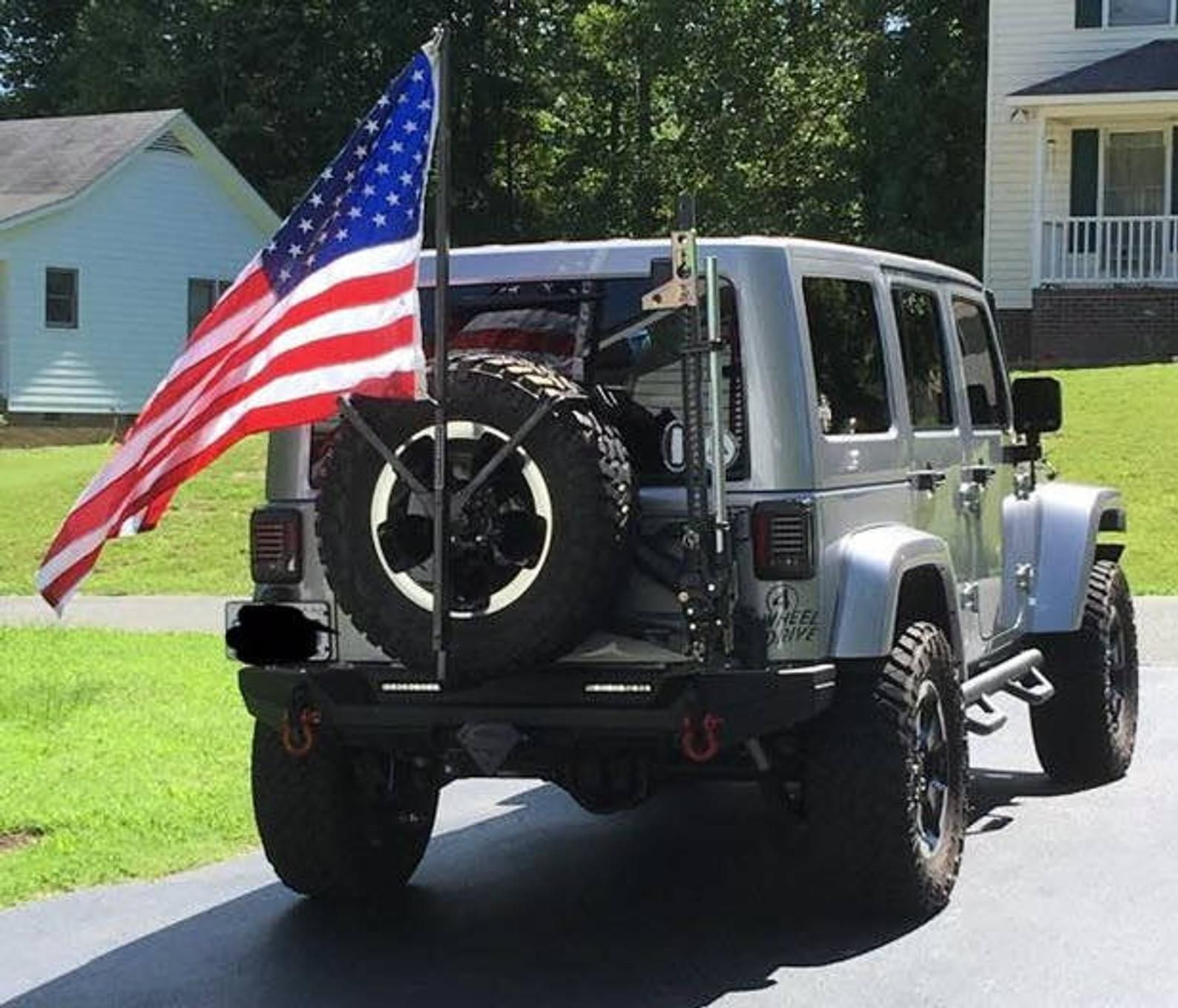 Original Freedom Flyer To Be Mailed Flag Pole Tire Jeep Jeep