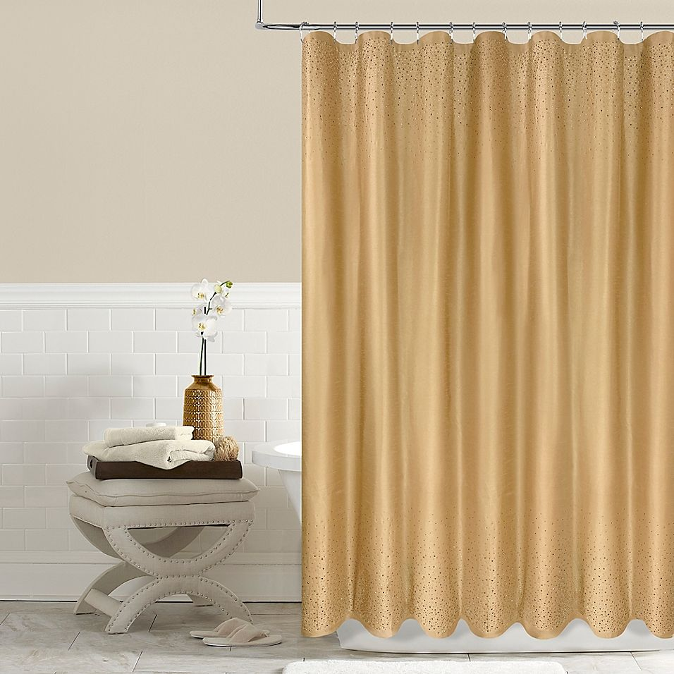 Twilight 54 X 78 Shower Curtain In Gold Curtains 96 Inch