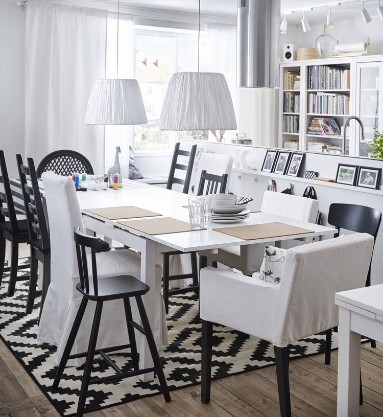 Les Chaises A Accoudoirs Nils D Ikea Ikea Dining Room Ikea Decor Dining Room Design