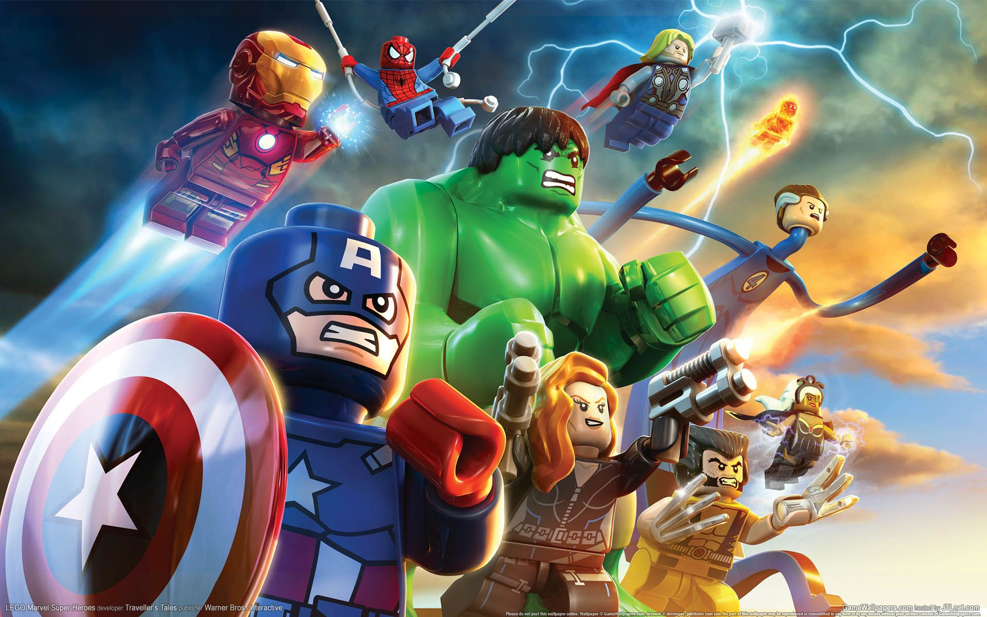marvel lego wallpaper