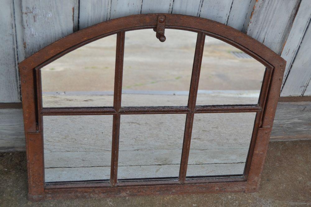 industrial antique metal window frame mirror factory loft decor - Metal Window Frames