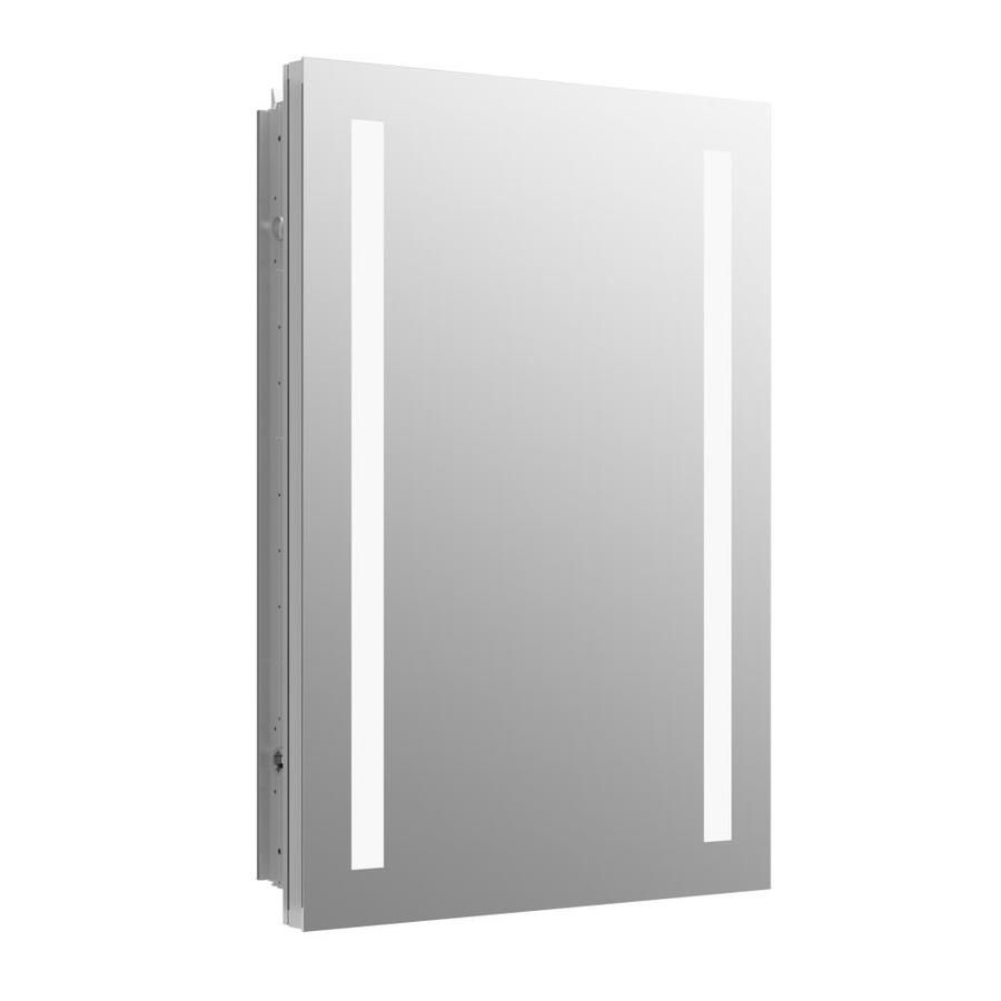 kohler verdera 20 in x 30 in rectangle recessed aluminum mirrored