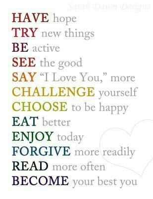 good new years resolution list inspirational quotes