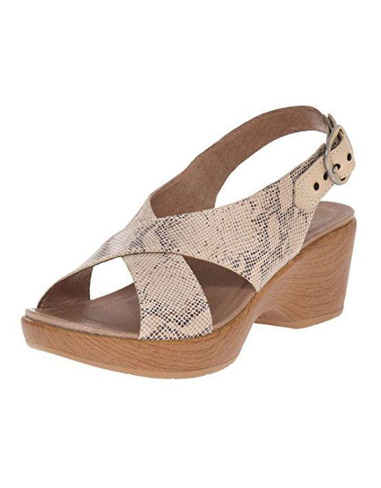 6079dfe56e0 Dansko Jacinda Taupe Snake Wedge Sandals