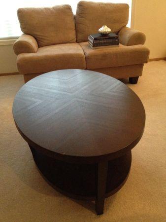 oval coffee table with shelf- Craigslist $70   Coffee ...