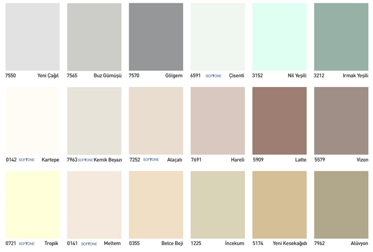 Dyo Renk Kartelası Kataloğu Ve Iç Cephe Boya Renkleri Dyo Iç Cephe