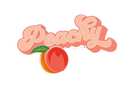 Peachy Tea Towel Peach Typography 70 In 2020 Aesthetic Wallpapers Aesthetic Stickers Retro Aesthetic