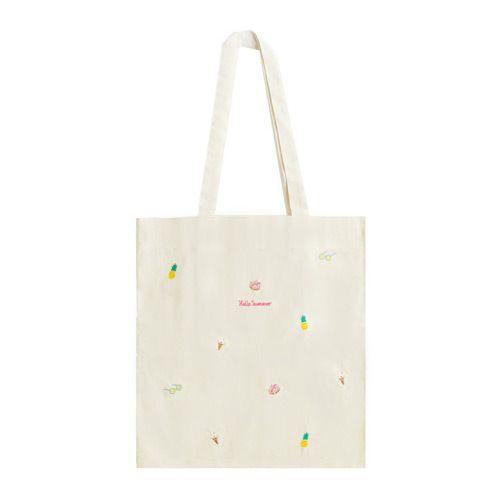 Eco Shopper Bag Eco Friendly Cotton Tote Bag Hello Summer Eco Tote Bag Eco Friendly Gift