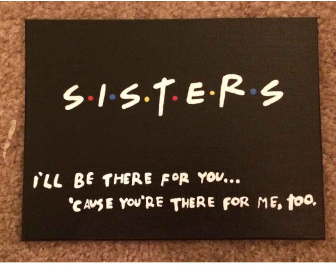 For That Sister Who LOVES FRIENDS Birthday Ideas Friends Present
