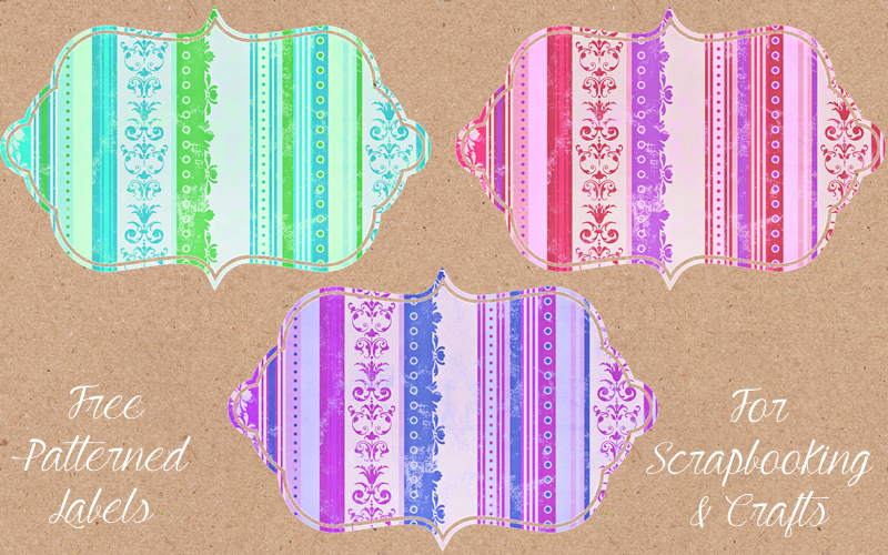 Freebie Fridays #46 - Patterned Labels - The Dutch Lady Designs