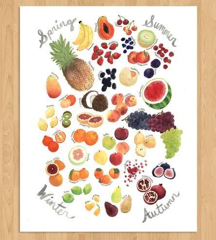 Seasonal Fruit Art Print
