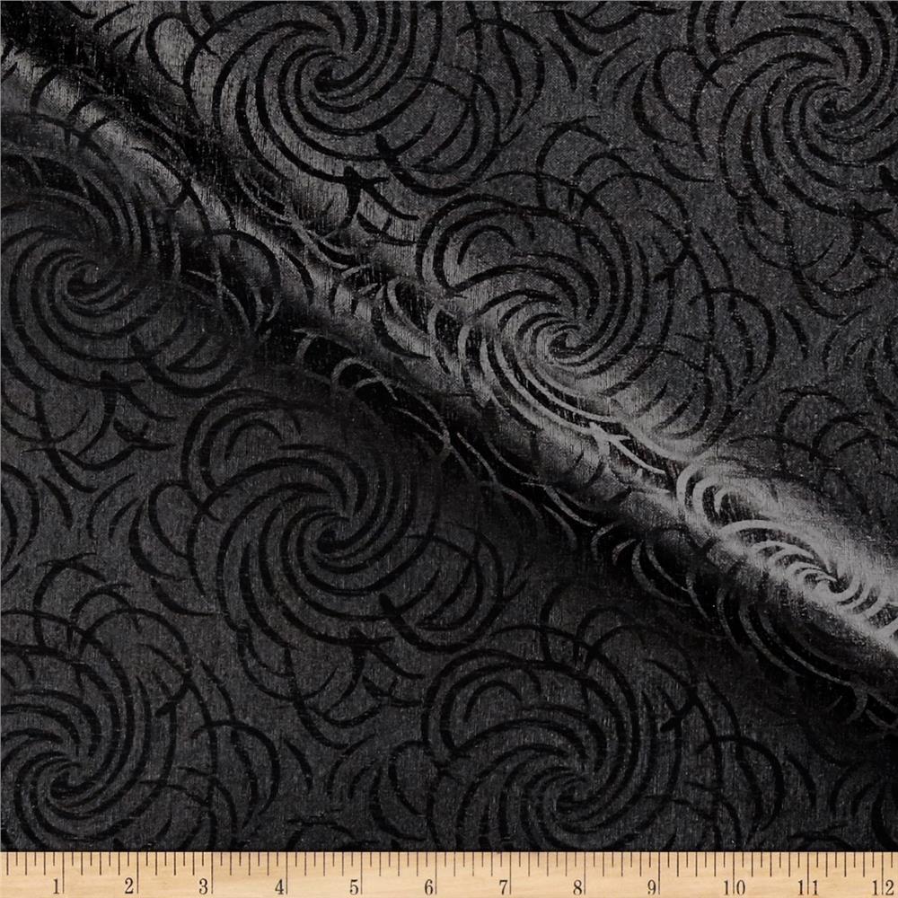 Swirl Vinyl Black Vinyl Vinyl Fabric Swirls