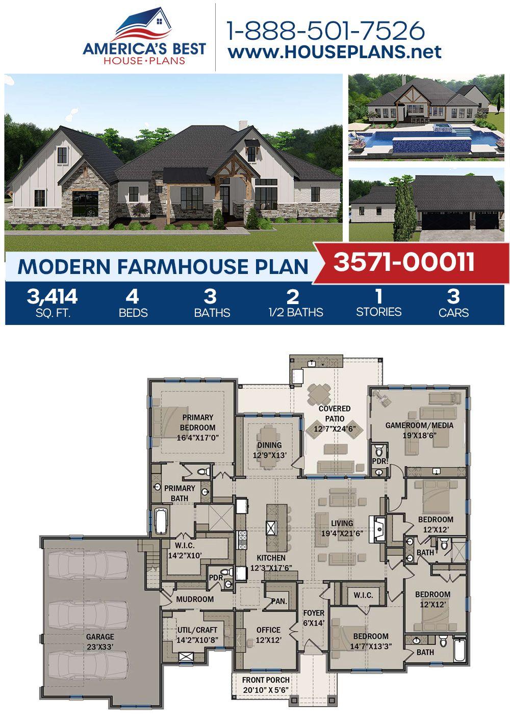 Pin On Modern Farmhouse House Plans