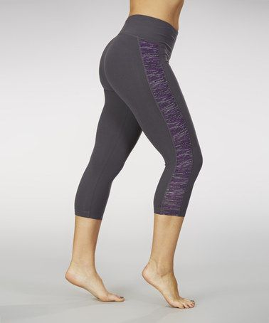 3fa0952b8feed Loving this Violet Space-Dye Totally Dry-Wik Shaper Capri Leggings on # zulily! #zulilyfinds
