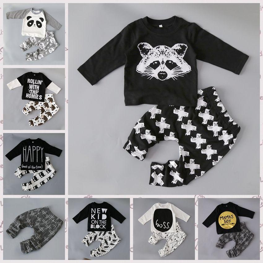 newborn little Kids boys clothes set Baby boy clothes ...
