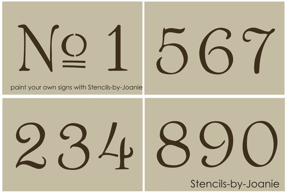 French Old Vintage Style Number Stencil 3 Paris Chic Cottage Address Home Decor Number Stencils Stencils French Stencil