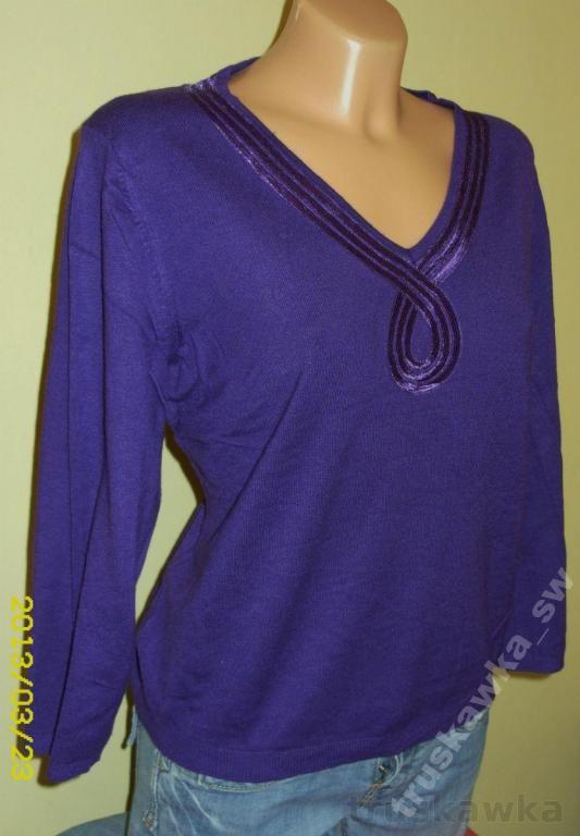Bluzka Z Dzianiny Damska Fioletowa Rozmiar 42 3566104100 Oficjalne Archiwum Allegro Women S Top Fashion Tops
