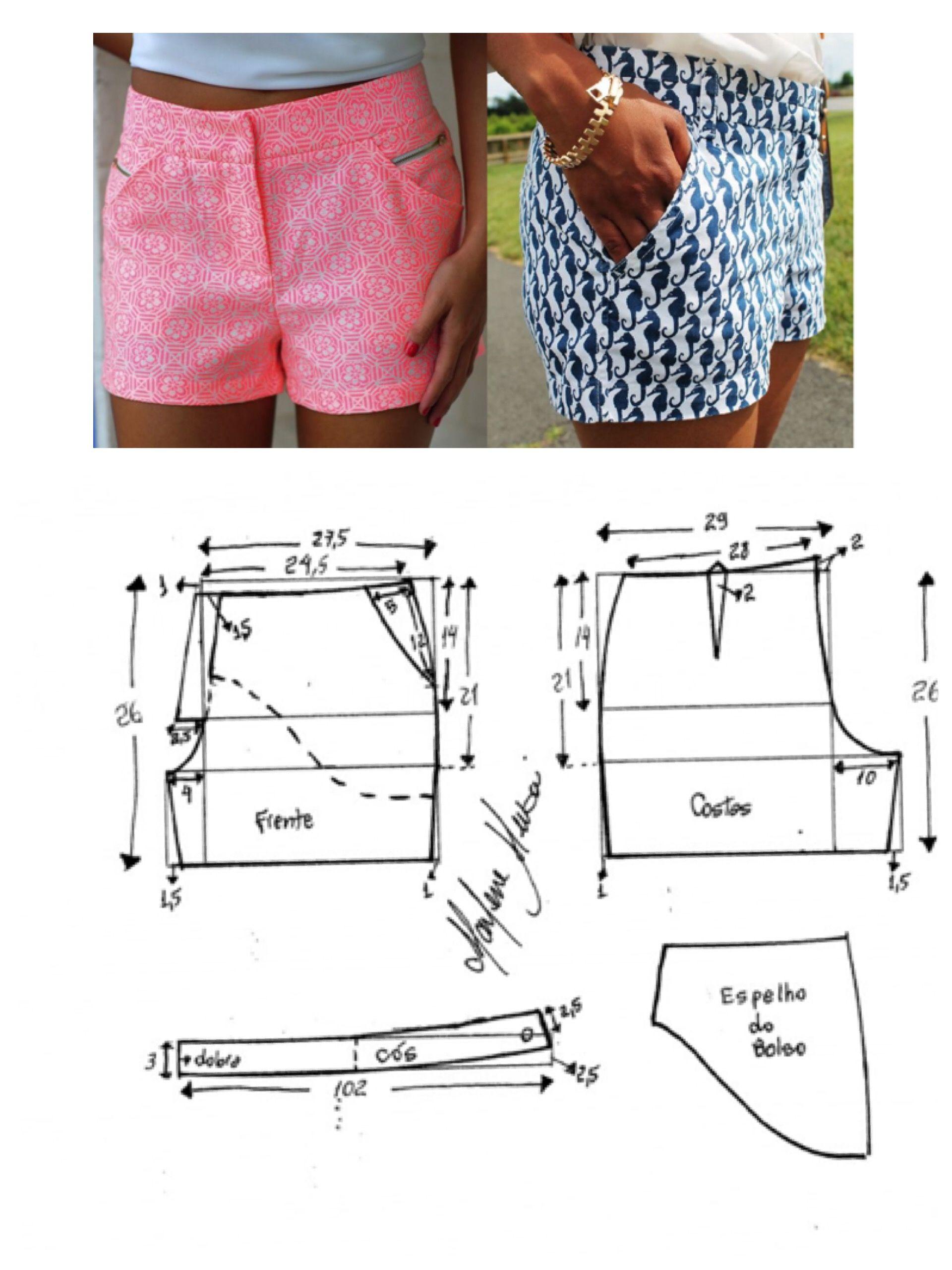 Guía para shorts | PATRONES FEMENINOS | Pinterest | Costura, Guia ...