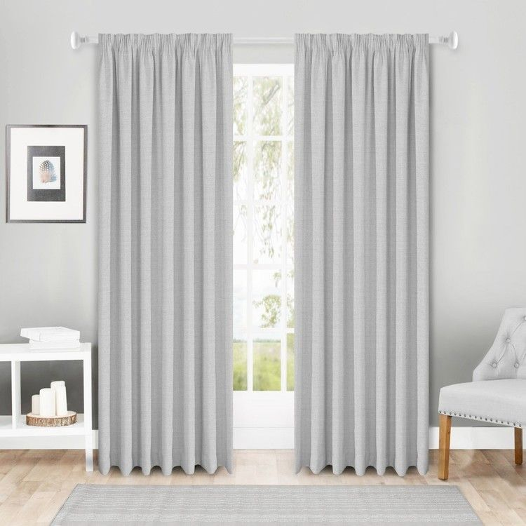 Gummerson Galaxy Pencil Pleat Curtains Silver 140 220 X 221 Cm