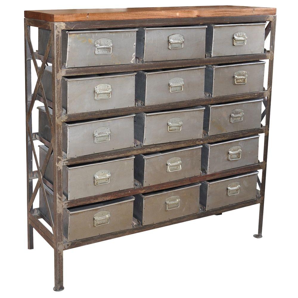 Handmade Wanderloot Vintage Metal Arts And Crafts Storage Cabinet India