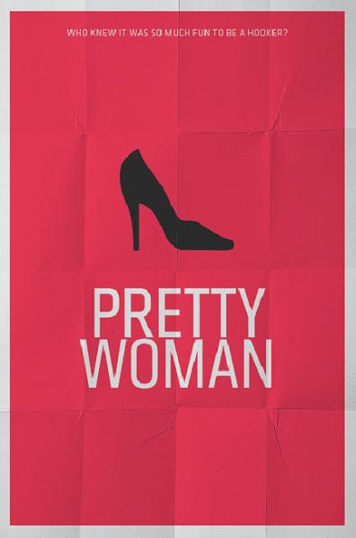 Pretty Woman (1990) ~ Minimal Movie Poster by Pedro Vidotto #amusementphile