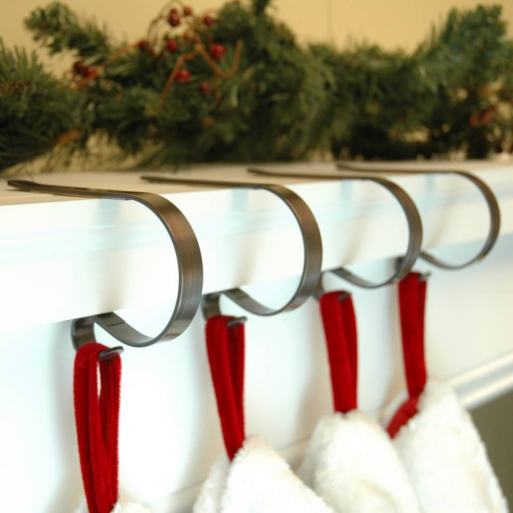 Product Image For The Original Mantle Clip Set Of 4 2 Out Of 2 Christmas Stocking Holders Christmas Stocking Hangers Stocking Holders