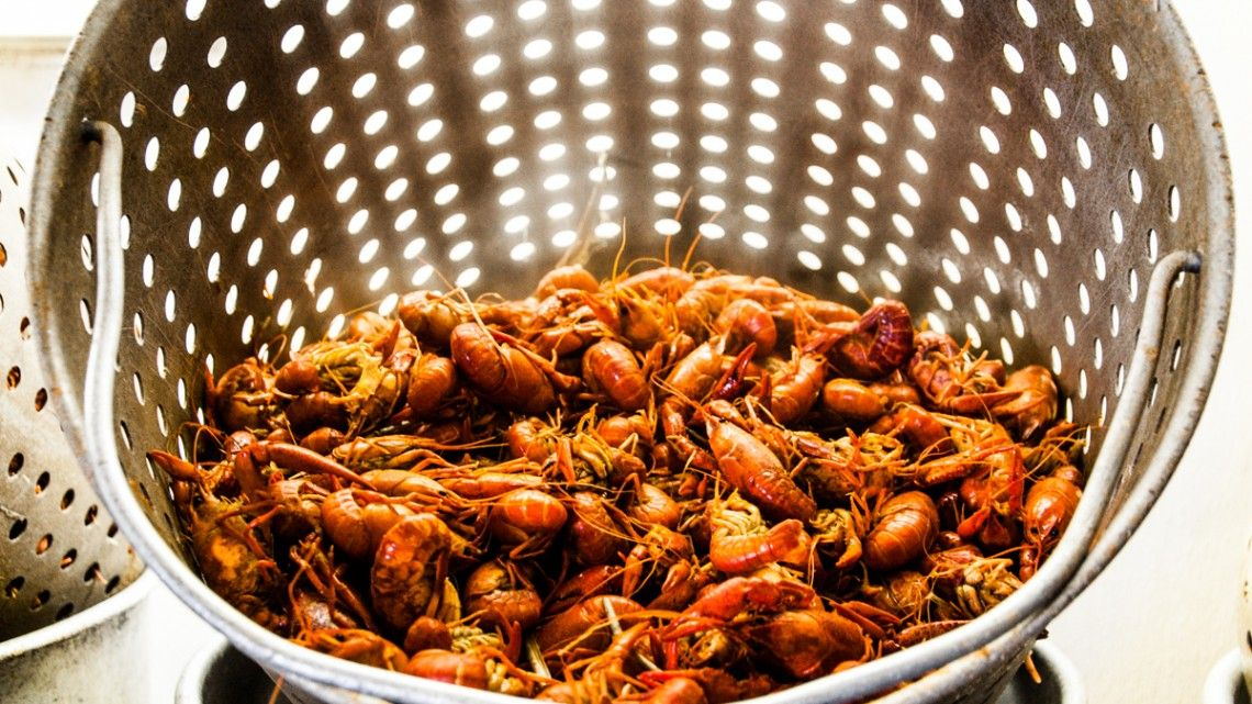 A Look Behind The Scenes At The Weekly Crawfish Boil Done By