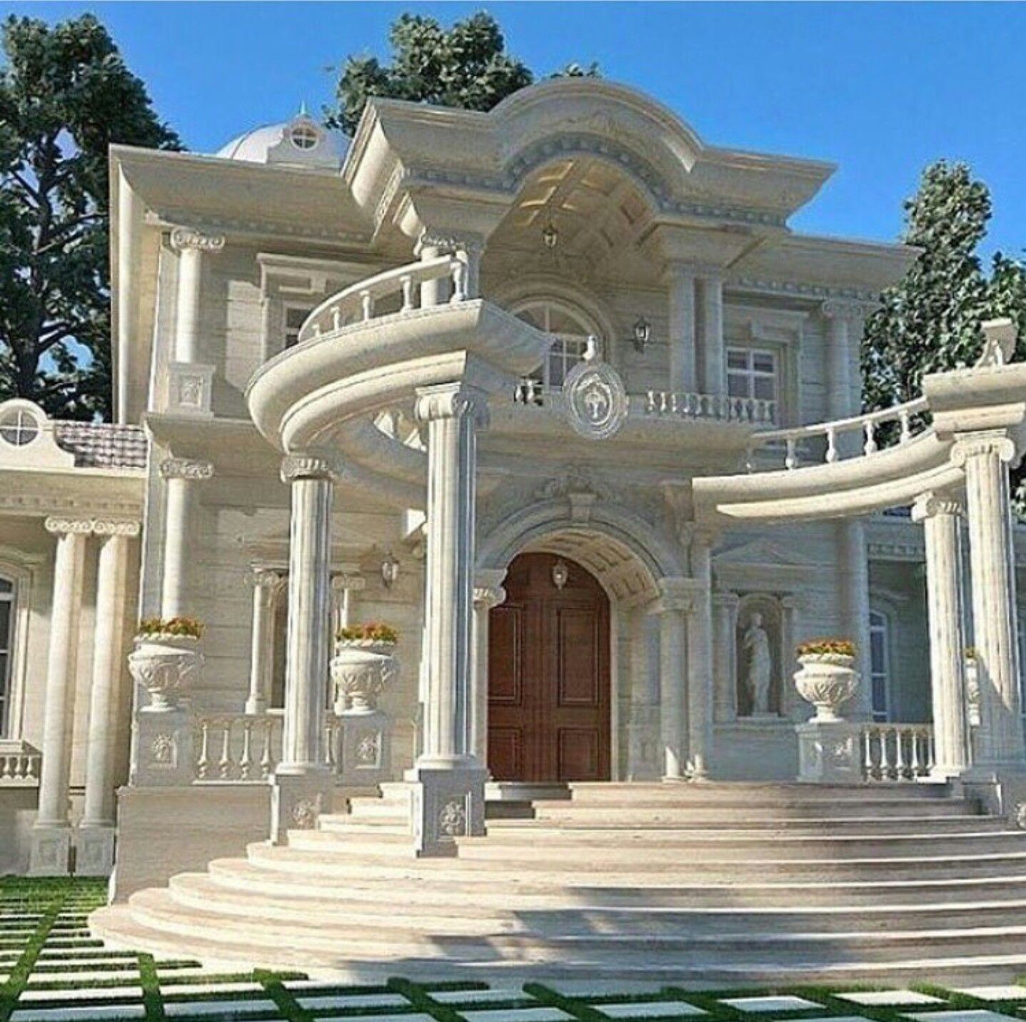 Beautiful Home Love The White Classic House Design House